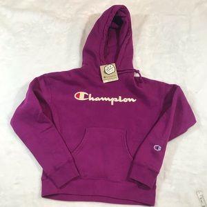 NWT CHAMPION purple hoodie sweatshirt reverse weav